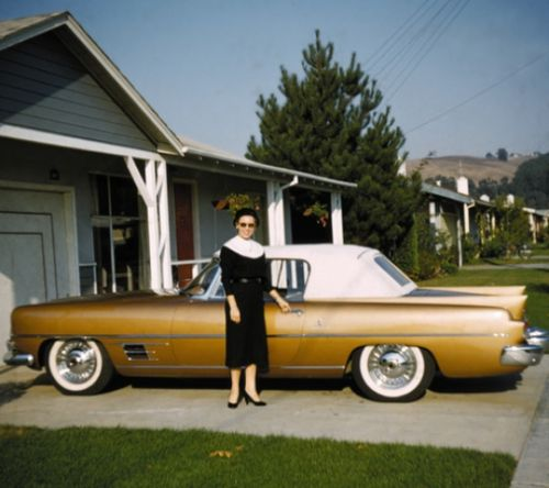 Mom_and_the_1957_Dual_Ghia